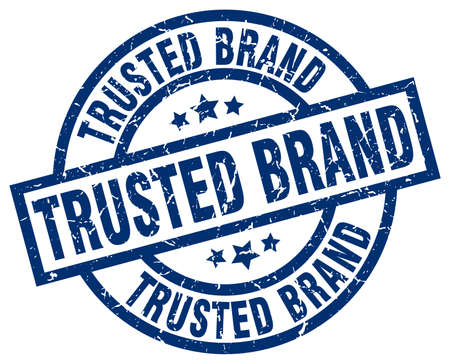 trusted: Trusted brand blue round grunge stamp Illustration