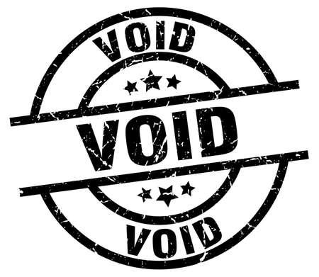 Void round grunge black stamp