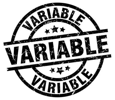 variable: variable round grunge black stamp