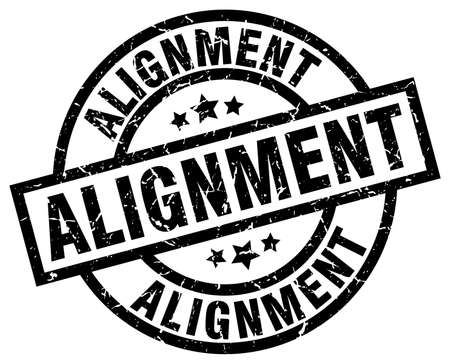 alignment round grunge black stamp Illustration