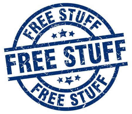 stuff: free stuff blue round grunge stamp