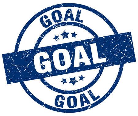 targets: goal blue round grunge stamp