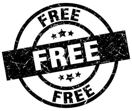 Free round grunge black stamp