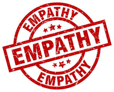 empathy: Empathy round red grunge stamp Illustration
