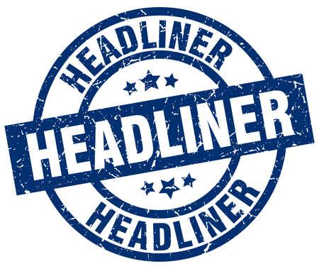 headliner: Headliner blue round grunge stamp Illustration