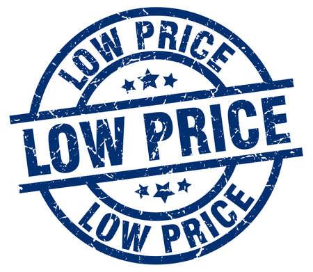 low price: Low price blue round grunge stamp