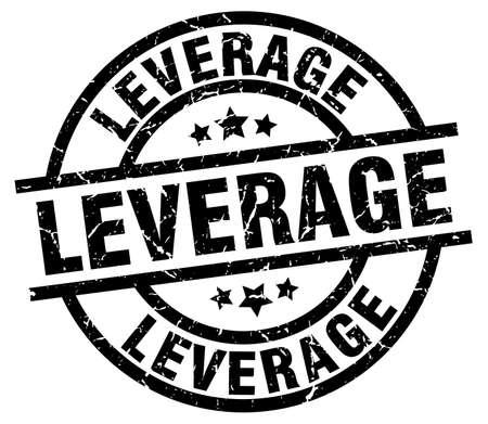 leverage: Leverage round grunge black stamp