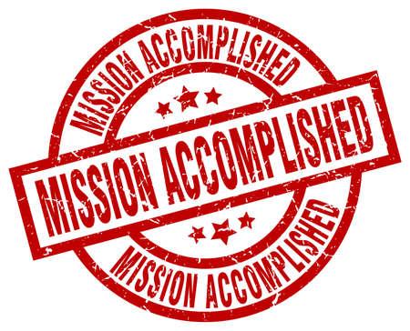 Mission accomplished round red grunge stamp Illusztráció