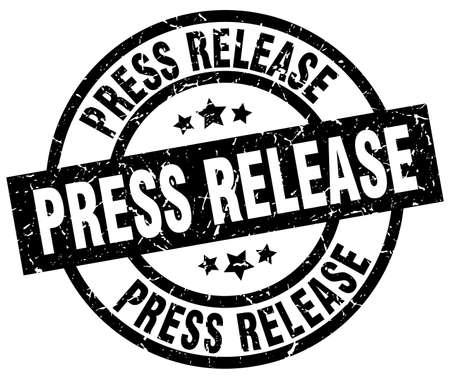Press release round grunge black stamp