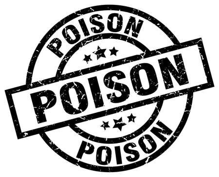 poison: Poison round grunge black stamp Illustration