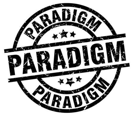 paradigm: Paradigm round grunge black stamp Illustration