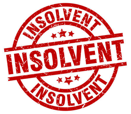 insolvent: Insolvent round red grunge stamp Illustration