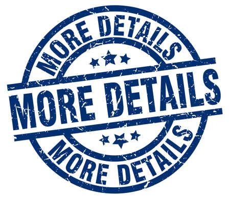 details: More details blue round grunge stamp