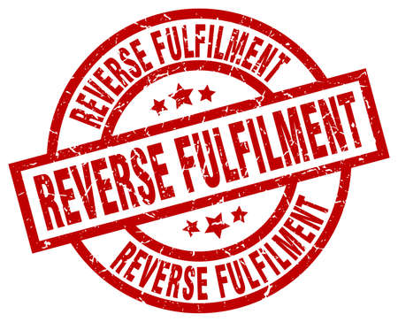 fulfilment: Reverse fulfilment round red grunge stamp