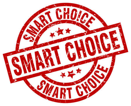 smart: Smart choice round red grunge stamp Illustration