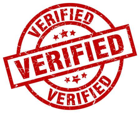 verified: Verified round red grunge stamp