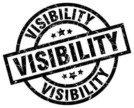 visibility: Visibility round grunge black stamp
