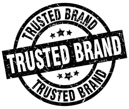 trusted: Trusted brand round grunge black stamp Illustration