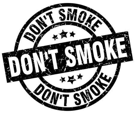 rook geen ronde grunge zwarte stempel