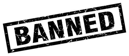 banned: square grunge black banned stamp