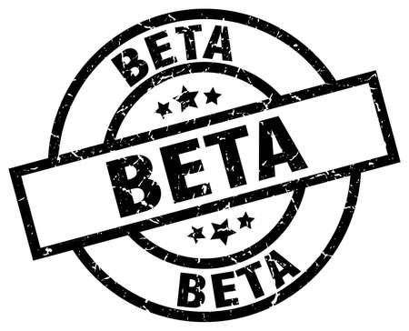 beta round grunge black stamp