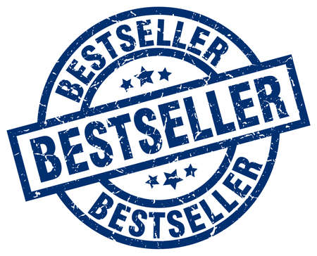 bestseller blue round grunge stamp