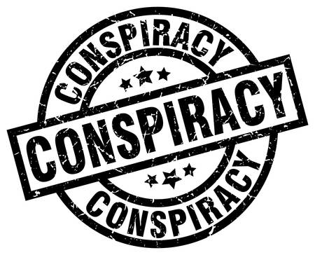conspiracy: Conspiracy round grunge black stamp Illustration