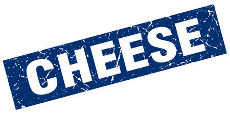 square grunge blue cheese stamp