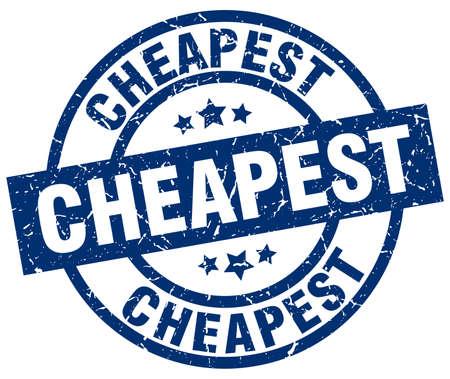 Cheapest blue round grunge stamp