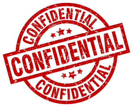 classified: Confidential round red grunge stamp