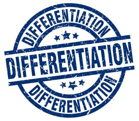 differentiation: differentiation blue round grunge stamp