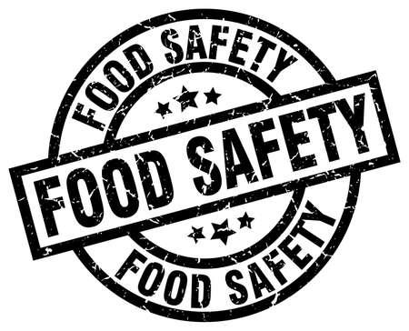 food safety round grunge black stamp
