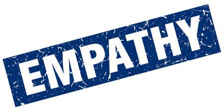 empathy: square grunge blue empathy stamp