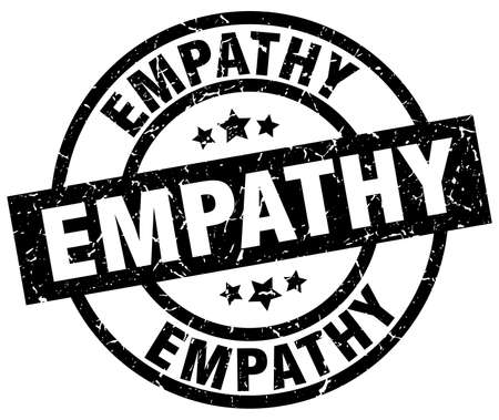 empathy: empathy round grunge black stamp Illustration