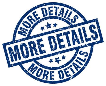 details: more details blue round grunge stamp Illustration