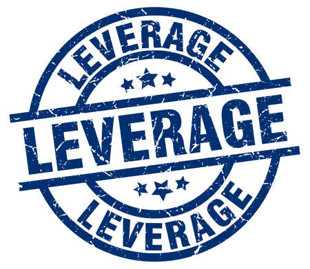 leverage: leverage blue round grunge stamp