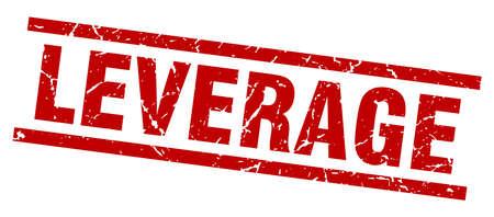 leverage: square grunge red leverage stamp