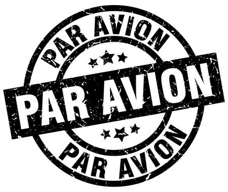 avion: par avion round grunge black stamp