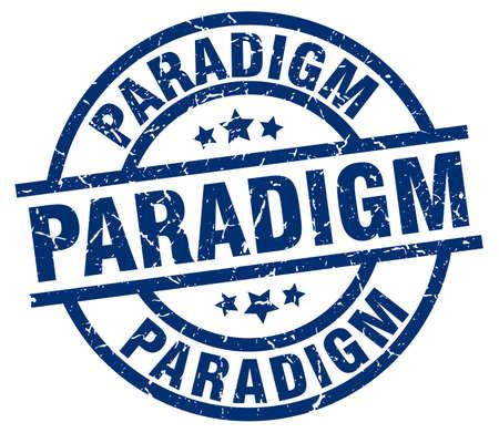 paradigm: paradigm blue round grunge stamp Illustration