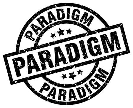 paradigm: paradigm round grunge black stamp