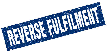 reverse: square grunge blue reverse fulfilment stamp