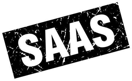 saas: square grunge black saas stamp
