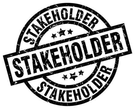 stakeholder: stakeholder round grunge black stamp