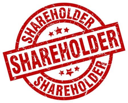 shareholder: shareholder round red grunge stamp Illustration
