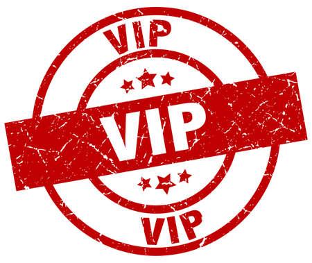 vip round red grunge stamp