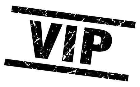 square grunge black vip stamp Illustration