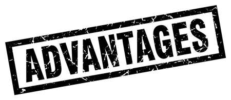 advantages: square grunge black advantages stamp