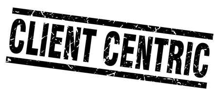 square grunge black client centric stamp Ilustração