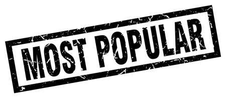 most popular: square grunge black most popular stamp