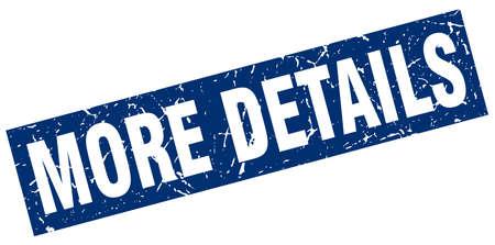 details: square grunge blue more details stamp